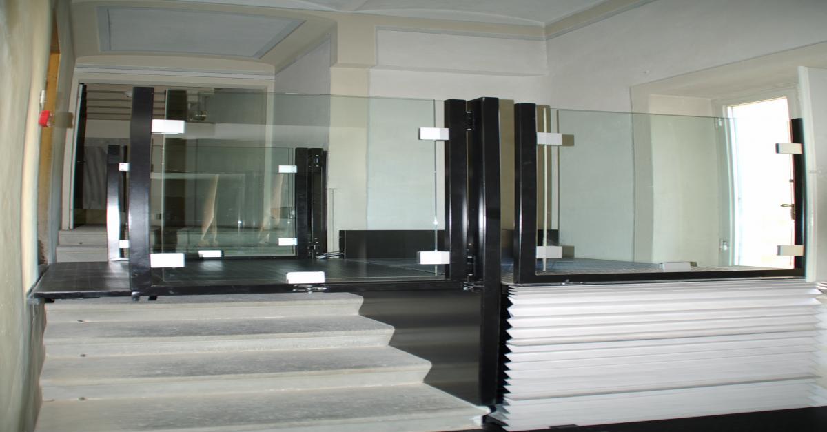 Fabocdue - Installazione piattaforma a Pantografo a Palazzo Pitti Firenze